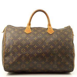 Auth Louis Vuitton Speedy 35 Hand Bag #3666L17